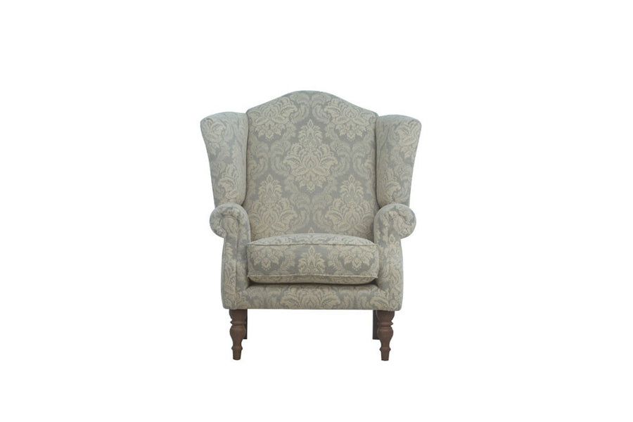 Woburn | Highback Chair | Brecon Damask Duck Egg