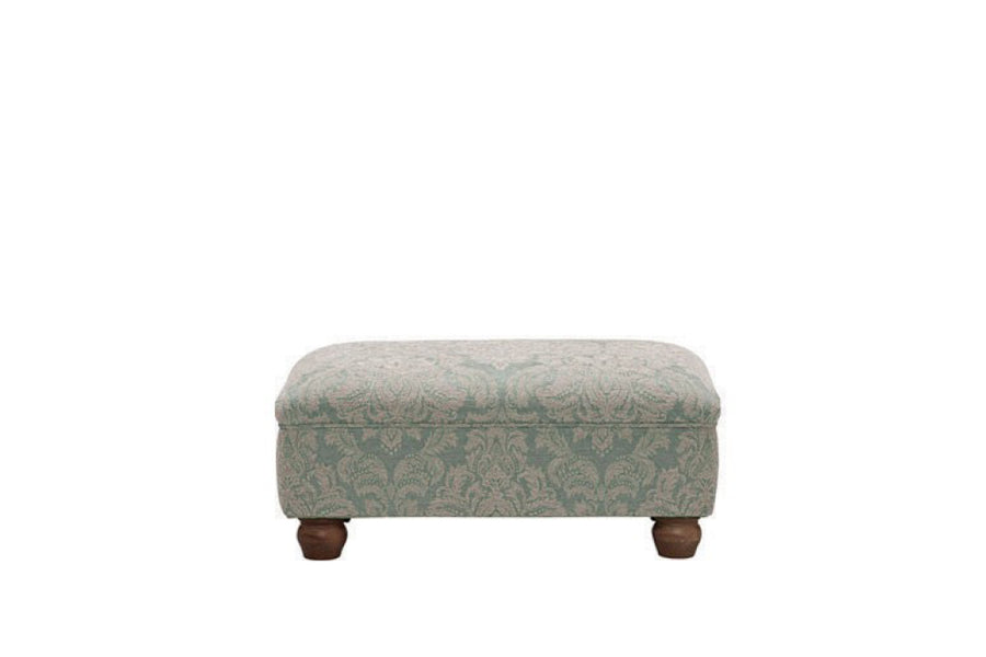 Woburn | Footstool | Brecon Damask Duck Egg
