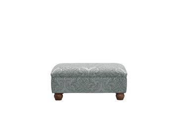Woburn | Footstool | Brecon Damask Grey
