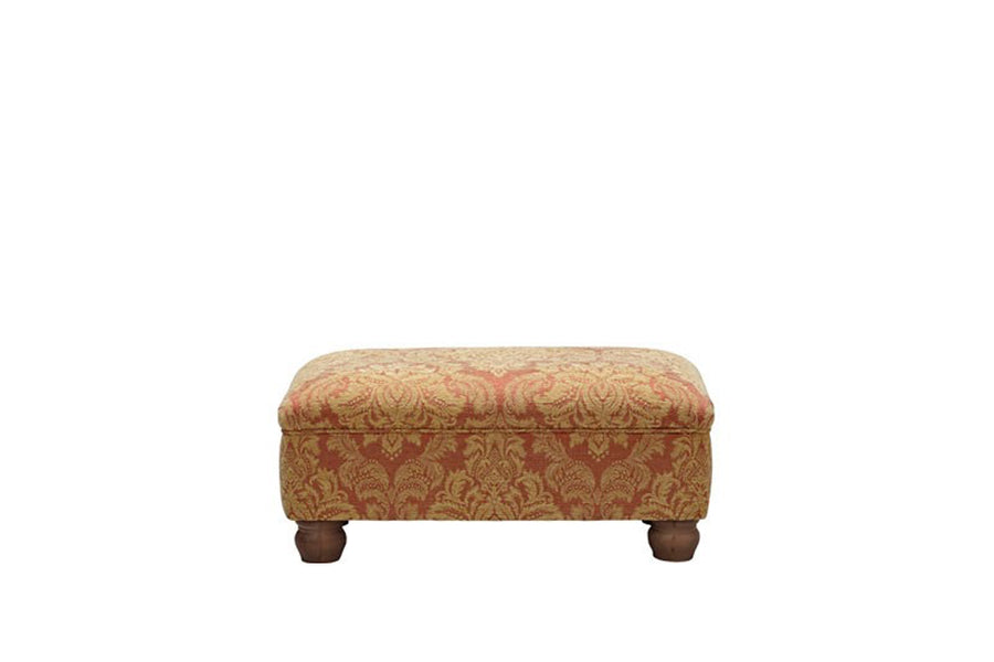 Woburn | Footstool | Brecon Damask Terracotta