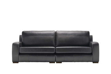 Mezzo | 4 Seater Sofa | Softgrain Black