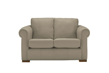 Scala | 2 Seater Leather Sofa | Softgrain Pebble