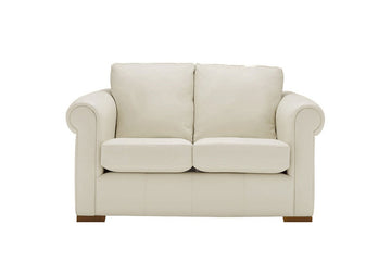 Scala | 2 Seater Leather Sofa | Softgrain White