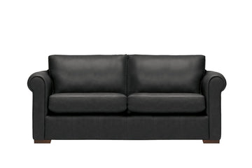 Scala | 3 Seater Leather Sofa | Softgrain Black