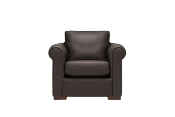 Scala | Leather Armchair | Softgrain Black