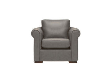 Scala | Leather Armchair | Softgrain Grey