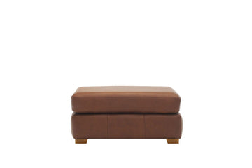 Scala | Leather Footstool | Softgrain Tan