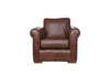 Scala | Leather Armchair | Saddle Chocolate