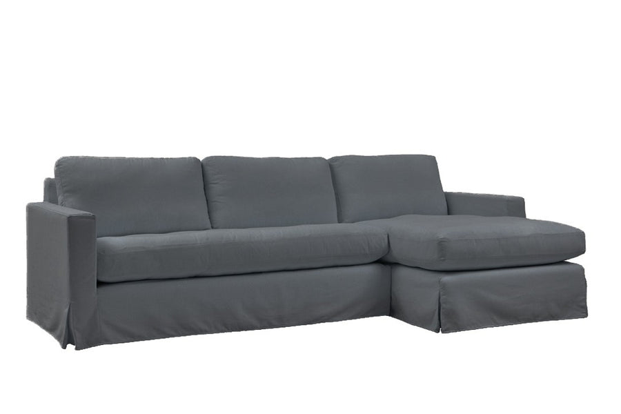 Kate | Chaise Sofa Option 1 | Mae Charcoal