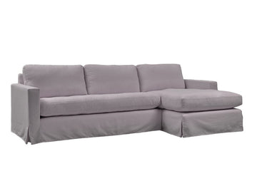 Kate | Chaise Sofa Option 1 | Mae Light Grey