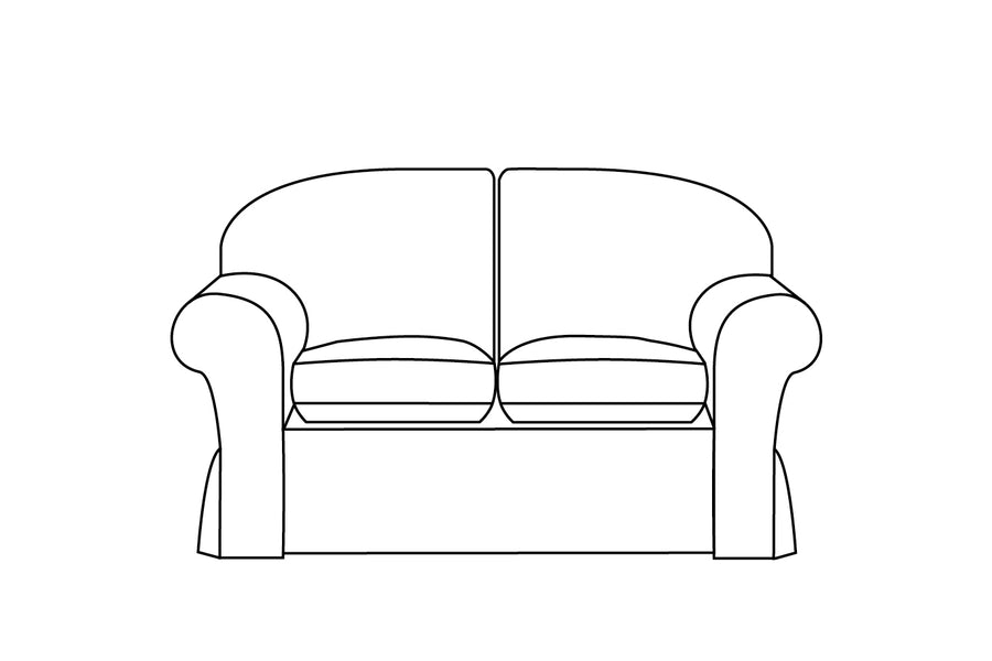 Madrid | 2 Seater Sofa Extra Loose Cover | Capri Honey
