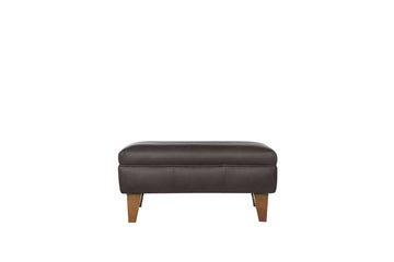 Malmo | Footstool | Softgrain Black