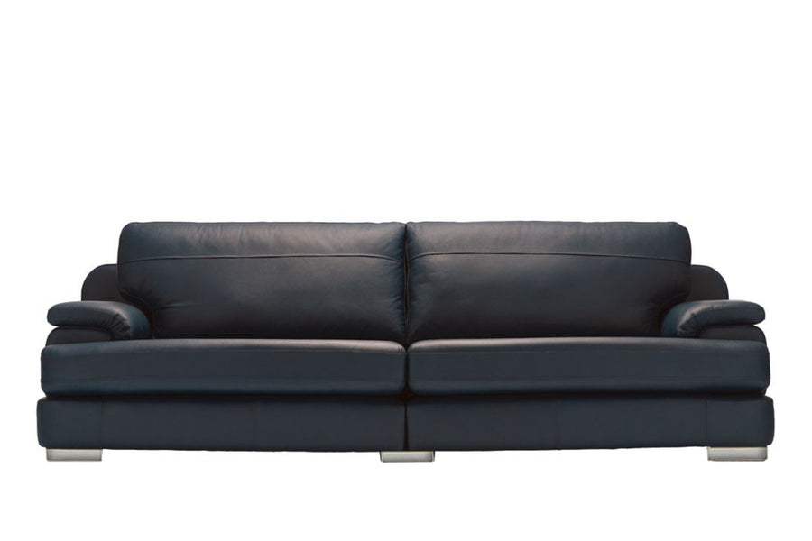 Marino | 4 Seater Sofa | Softgrain Black