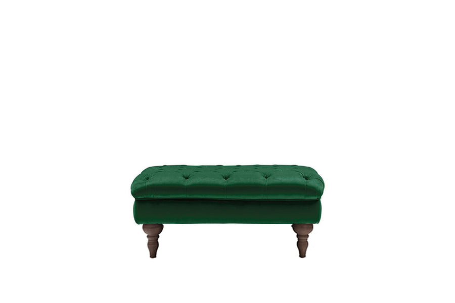 Mia | Bench Footstool | Opulence Emerald