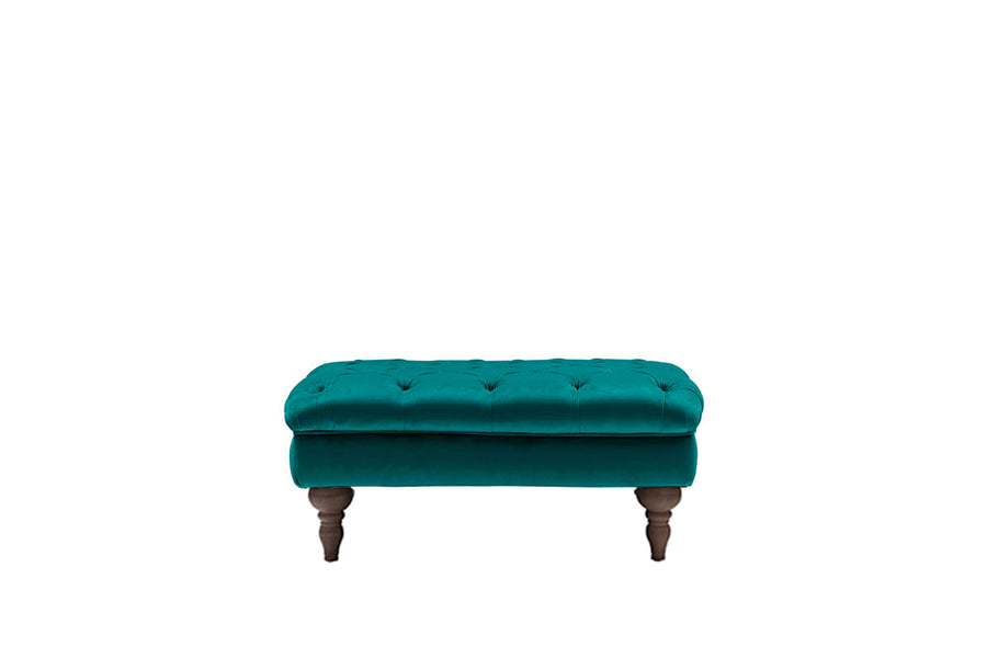 Mia | Bench Footstool | Opulence Teal