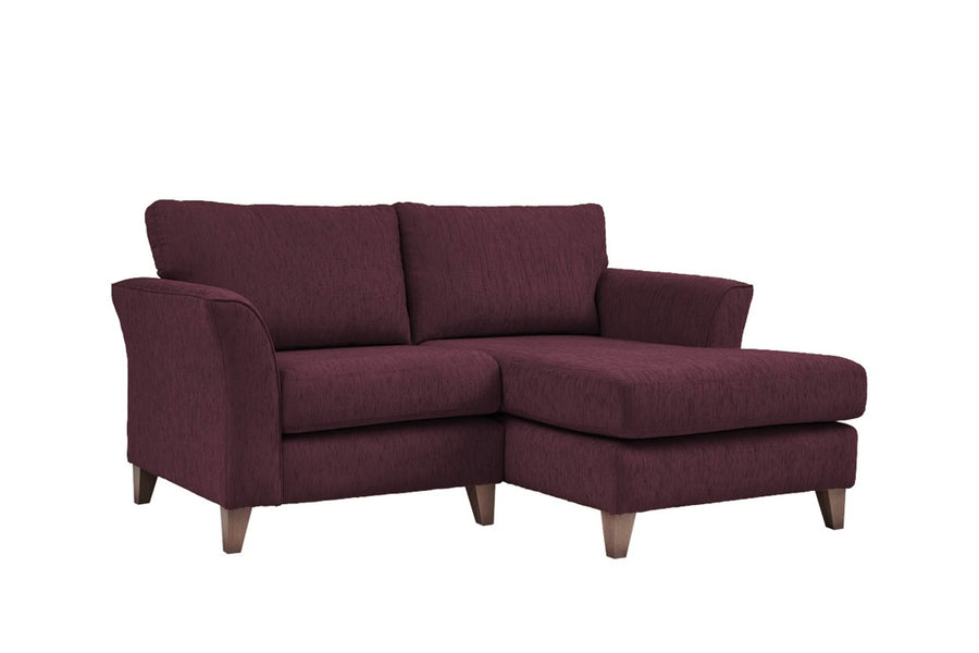 Monaco | Chaise Sofa Option 1 | Polo Aubergine