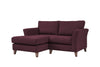 Monaco | Chaise Sofa Option 2 | Polo Aubergine