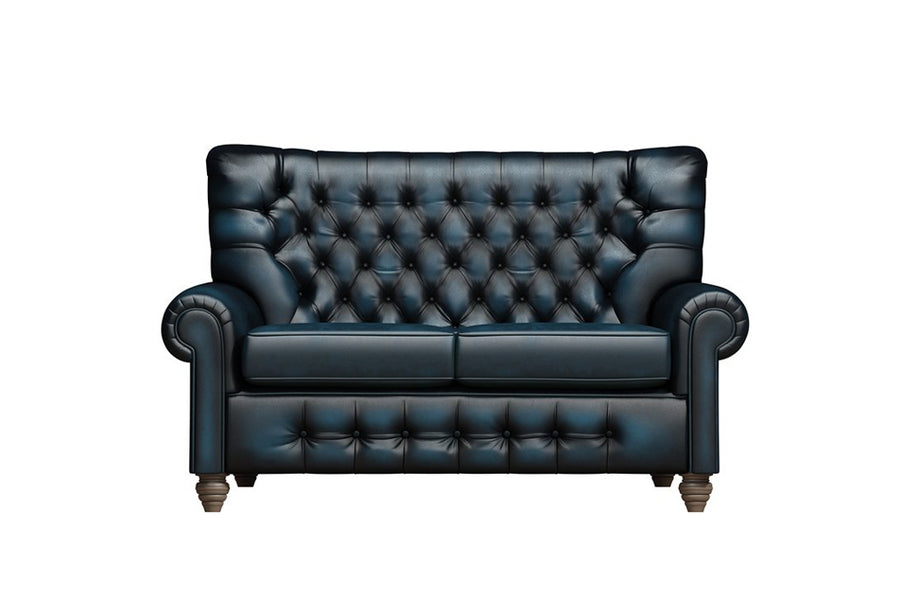 Monk | 2 Seater Sofa | Antique Blue