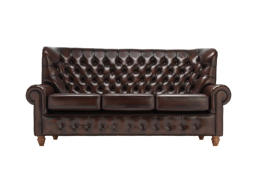 Monk | 3 Seater Sofa | Antique Brown