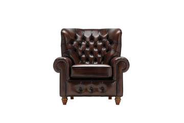 Monk | Highback Chair | Antique Brown