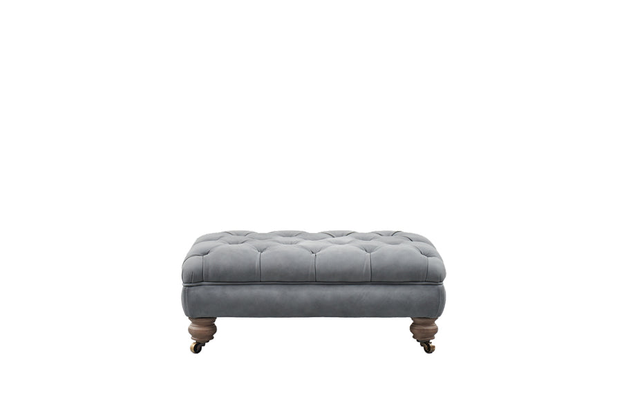 Monty | Bench Footstool | Tempest Grey