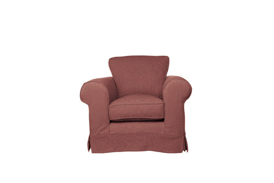 Albany | Club Chair | Kingston Dark Terracotta