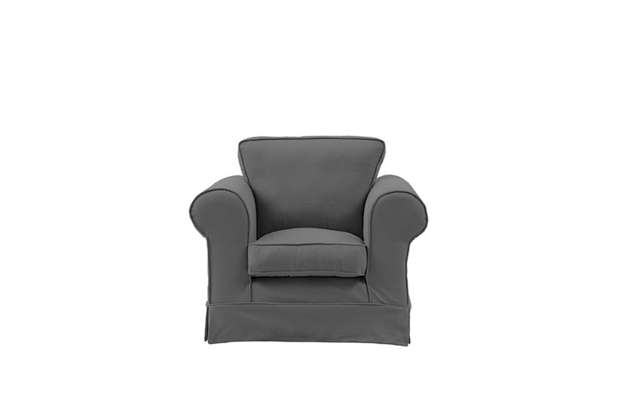 Albany | Club Chair | Miami Charcoal
