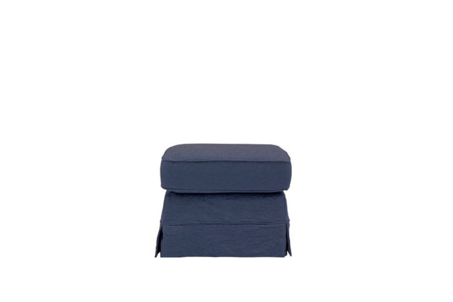 Albany | Footstool | Kingston Dark Blue