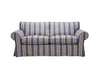Newport | 3 Seater Sofa | Capri Blue Stripe