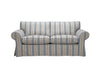 Newport | 3 Seater Sofa | Capri Grey Stripe