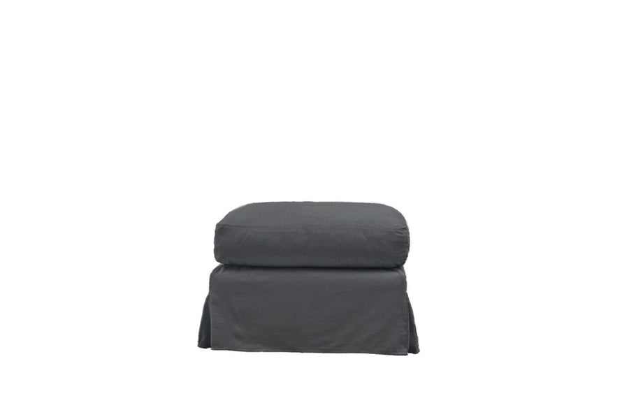Kate | Footstool | Mae Charcoal