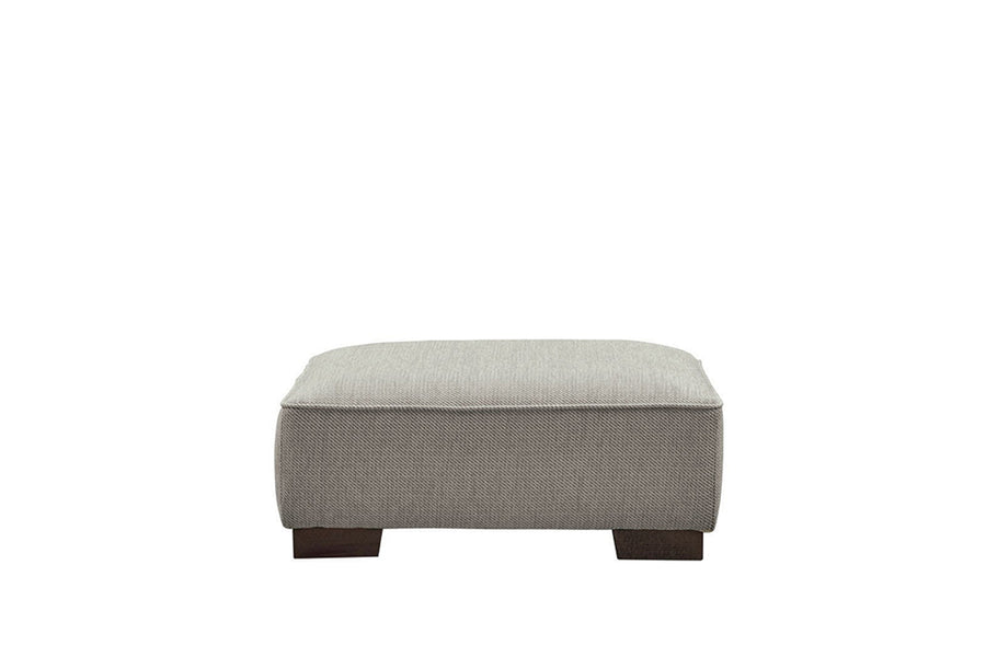 Denver | Footstool | Atlanta Light Grey