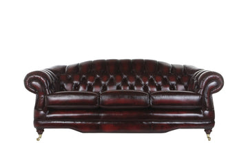 Regent | 3 Seater Sofa | Antique Red