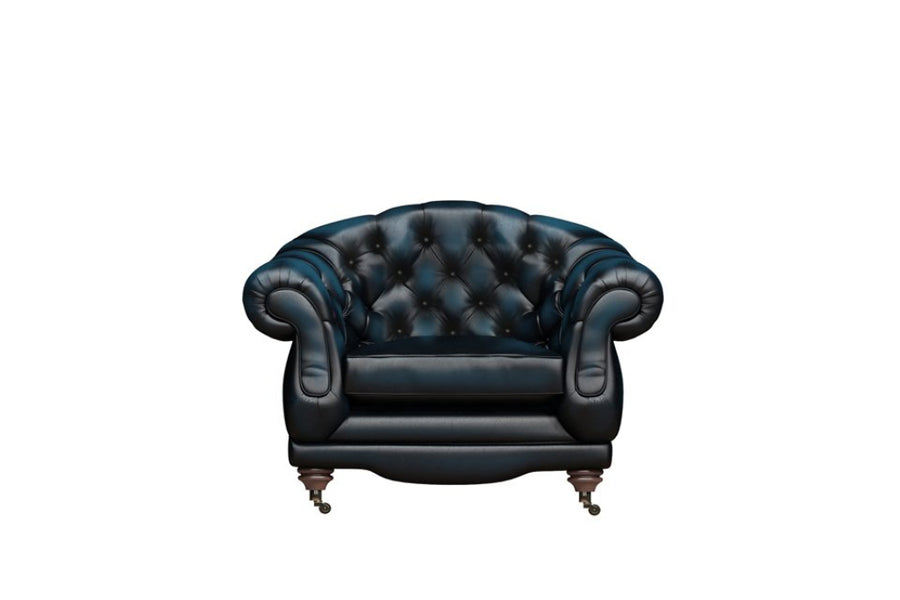 Regent | Club Chair | Antique Blue