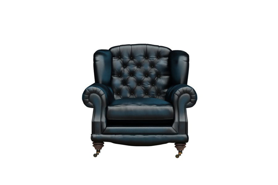 Regent | Highback Chair | Antique Blue