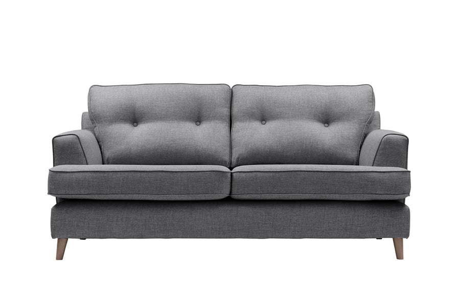 Poppy | 3 Seater Sofa | Linoso Charcoal
