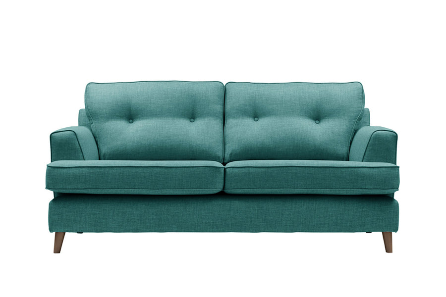 Poppy | 3 Seater Sofa | Linoso Teal