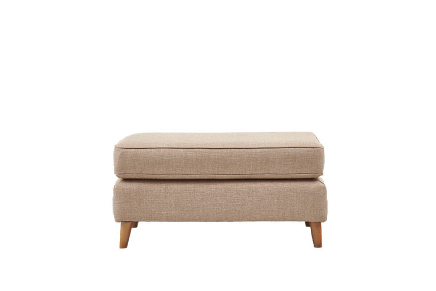 Poppy | Large Footstool | Linoso Biscuit