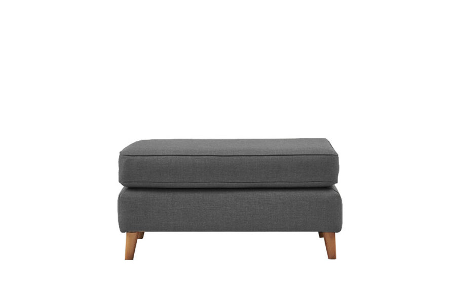 Poppy | Large Footstool | Linoso Charcoal