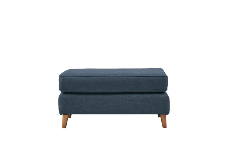 Poppy | Large Footstool | Linoso Midnight