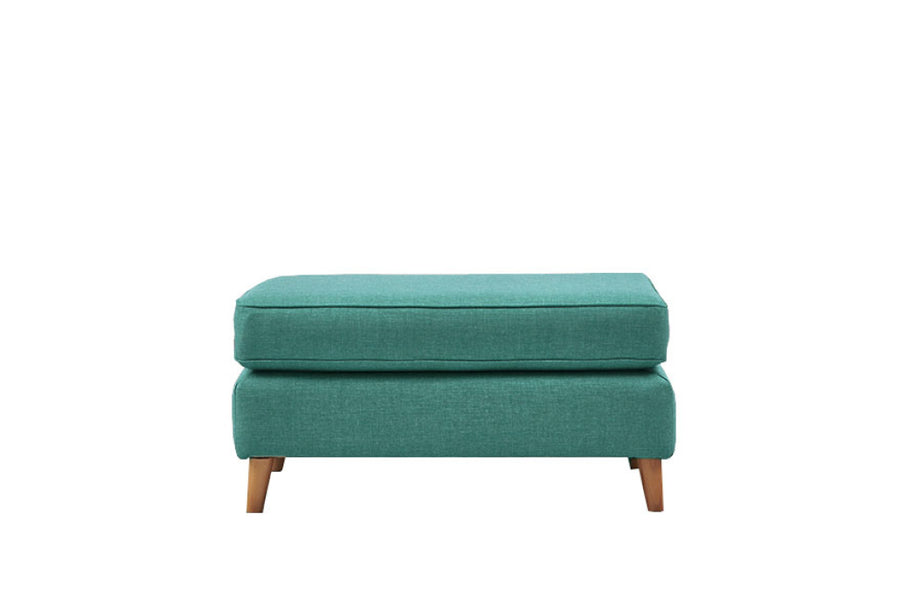 Poppy | Large Footstool | Linoso Teal