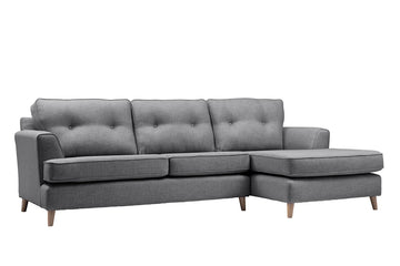 Poppy | Chaise Sofa Option 1 | Linoso Charcoal