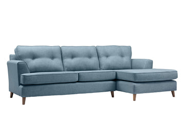 Poppy | Chaise Sofa Option 1 | Linoso Duck Egg