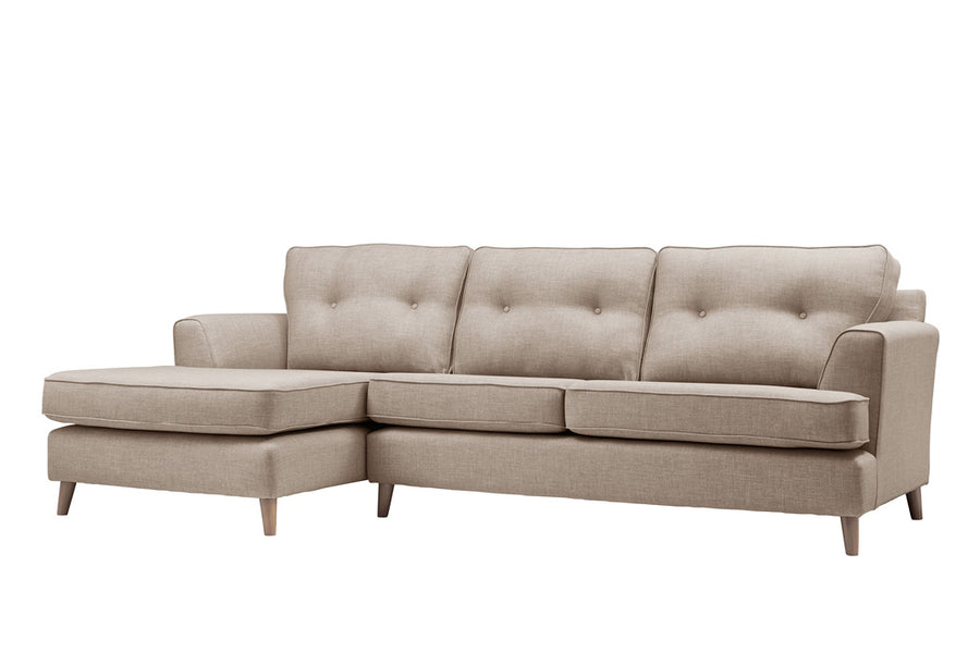 Poppy | Chaise Sofa Option 2 | Linoso Biscuit