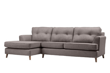 Poppy | Chaise Sofa Option 2 | Linoso Grey