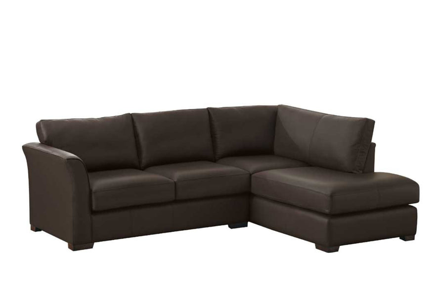 Sienna | Chaise Sofa Option 1 | Softgrain Black