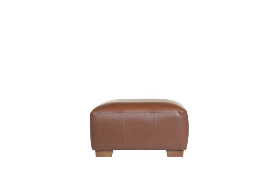 Sienna | Footstool | Softgrain Tan