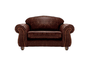 Burlington | Leather Love Seat | Vintage Rosewood