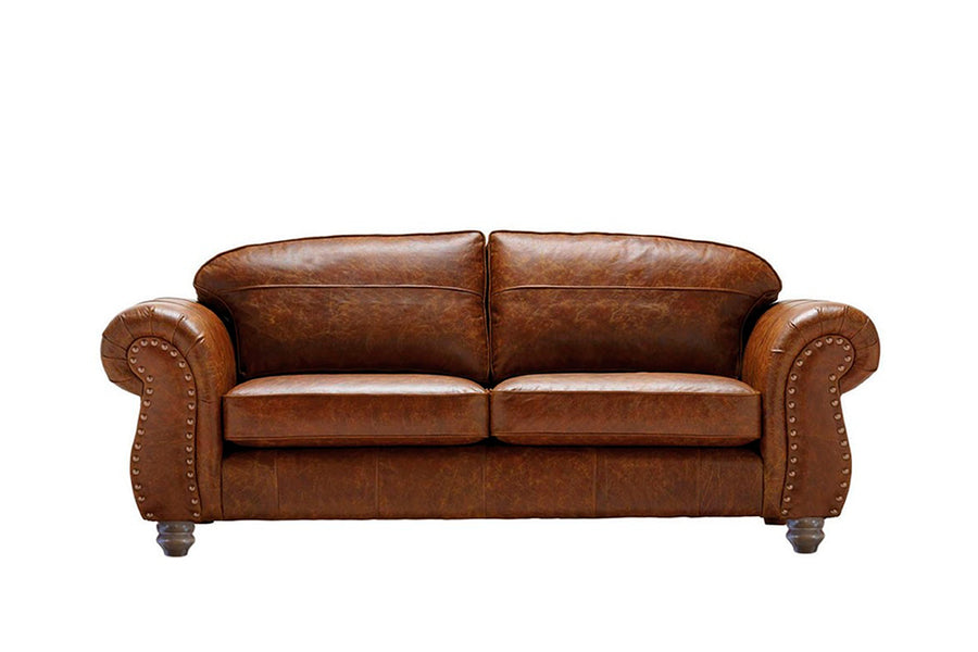 Burlington | Large Leather Sofa | Vintage Chestnut
