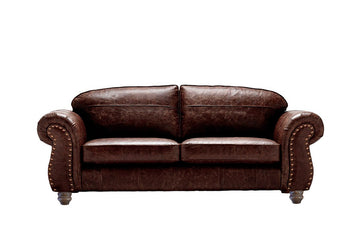 Burlington | Large Leather Sofa | Vintage Rosewood